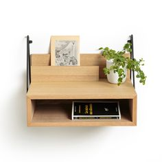 Trigala wall-mounted bedside table , light oak wood, La Redoute Interieurs | La Redoute