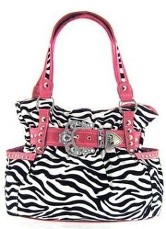 Belted Rhinestone Western Buckle Soft Zebra Stripes Purse Pink Trim. I would like in place of the hobo purse if no one can find a reasonable one.