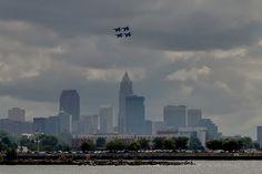 Blue Angels Cleveland skyline