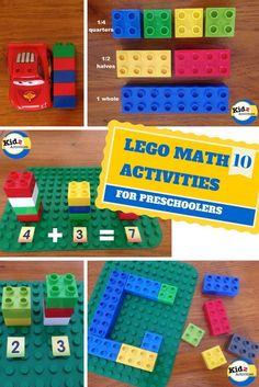 10 LEGO MATH Activities for Preschoolers by Kidz Activities