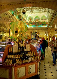 Harrod's Food Court...GAWD...I could wander through here for hours!  It's a simply magical place to me!