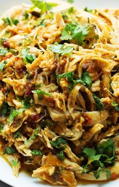 """Another recipe I would put in my """"eh it's alright"""" board. Decent flavor, & easy & pretty quick to make. Spicy Shredded Chipotle Chicken"""