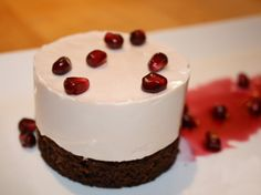Recipe: Pomegranate Panna Cotta on a Gingerbread Cake | Good Food