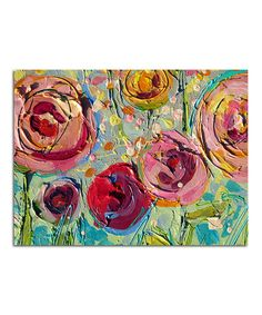 Loving this Sweet Summer Roses II Canvas on #zulily! #zulilyfinds