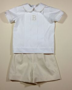 Boys Pleated Front Shirt and Short Set by dkreid on Etsy Heirloom Inspiration