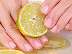 Lemon Manicure to get shiny nails