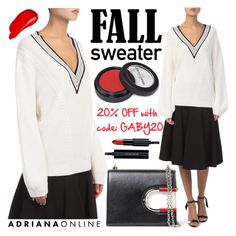 """""""ADRIANA ONLINE: Fall Sweater"""" by gaby-mil ❤ liked on Polyvore featuring Thierry Mugler, Manic Panic NYC, Burberry and Givenchy"""