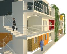 Concurso Habitação para Todos – edifícios de 03 pavimentos - Acesso ao edifício - pós-ocupação