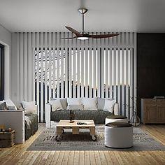 Ventilador de techo con luz LED INSPIRE Java 132 cm Negro DC · LEROY MERLIN