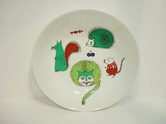 Kaj Franck Cat Mouse Hedgehog Arabia Bowl 60's Vtg Danish Modern Pottery Retro   eBay