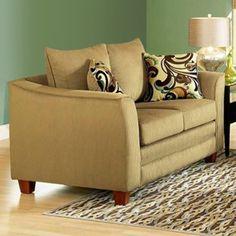 McKenzie Pillow Back Loveseat - Viva Chestnut Fabric