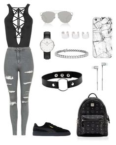 """polyvore"" by jesy-smith on Polyvore featuring mode, WearAll, Topshop, Puma, MCM, Christian Dior, Daniel Wellington, Maison Margiela, Blue Nile et Casetify"