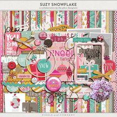 Free scrapbook Suzy Snowflake | A P&Co Collaboration kit