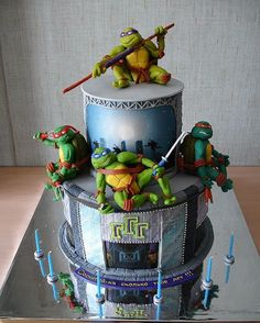 ninja turtle cake! awesome =)