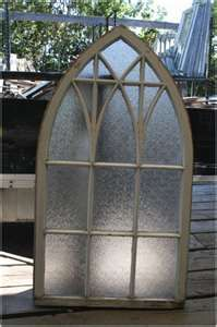 Cast Iron Coalbrookdale Gothic Arched Window Frame