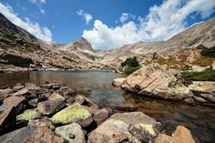 Blue Lake and Mount Toll (12,979').- Adventures in the Indian Peaks Wilderness