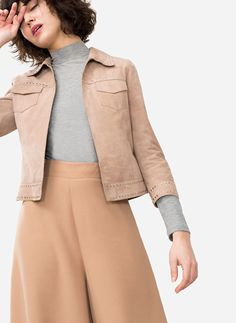 Uterqüe United Kingdom Product Page - Ready to wear - Jackets - Studded suede jacket - 240