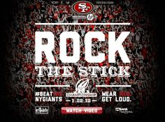 Let's Get Ready For Sunday, January 22nd, 2012 #NFCChamps! Wear Red Get Loud!!!