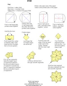 Teabag folding instructions for a simple star