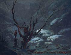 Mountain Gorge in Winter (Gebirgsschlucht im Winter), Carl Blechen, 1825