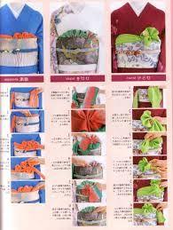 帯揚げ = obi-age, a tie or sash that tucks into the top of obi Traditioneller Kimono, Look Kimono, Traditional Kimono, Traditional Outfits, Geisha Art, Kabuki Costume, Japanese Textiles, Living Dolls, Japanese Outfits