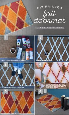 Create your own colorful Fall doormat with this super-cute design and tutorial by handcrafted lifestyle expert Lia Griffith.