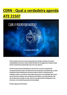 curiosidades ocultas: CERN - Qual a verdadeira agenda ATE 2150?