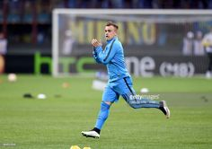 Xherdan #Shaqiri of FC Internazionale prior to the UEFA Europa League Round of 32 match between FC Internazionale Milano and Celtic FC at Stadio Giuseppe Meazza on February 26, 2015 in Milan, Italy.
