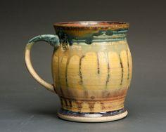 Handmade pottery coffee mug or ceramic teacup 14 by BlueParrotPots