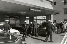 The limousine at Parkland Memorial Hospital minutes after the shooting
