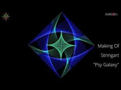 DIY Making Of Blacklight Stringart Yarn Art Deko Psy Galaxy by schwarzlicht.de - YouTube