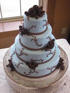 With dark purple instead of brown this cake from Cheri's Bakery could be just right.
