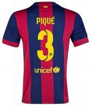 fc barcelona 2014 15 season pique 3 home soccer jersey a178