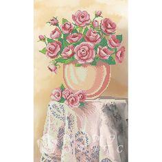 Канва с рисунком для бисера Букет роз Т-0097 #beads #beadwork #embroidery #mimistitch