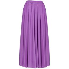 EDZ Basic Wide Flare Maxi Skirt in Purple Lavender found on Polyvore featuring skirts, lavender, lavender maxi skirt, maxi skirts, flared maxi skirt, ankle length skirt and long skirts
