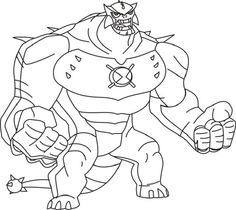 ben 10 omniverse coloring pages printable