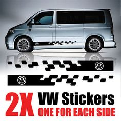 Vw T4 Transporter, Vw T5, Body Stickers, Car Stickers, Vw Cady, Vw Camping, Vw Caravelle, Mini Vans, Campervan