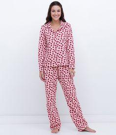 Pijama feminino Manga longa Estampado Calça estampada Marca: Lov Tecido: Moletom Composição: 70% Algodão; 30% Poliéster Modelo veste tamanho: P Medidas da modelo: Altura: 1,73 Busto: 80 Cintura: 60 Quadril: 90 COLEÇÃO INVERNO 2016 Veja outras opções de pijamas.