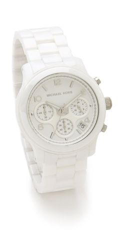 Michael Kors Ceramic Watch- this is perfect and I NEED it!