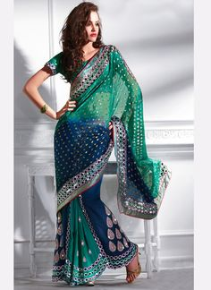 Beautiful Sari. Wish I had the body type for this. I'd wear these every day.
