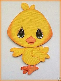 Made to order easter baby chick paper piecing by my tear bears manualidades con goma eva Bird Crafts, Felt Crafts, Baby Scrapbook, Scrapbook Paper Crafts, Kids Cards, Baby Cards, Paper Craft Supplies, Paper Piecing Patterns, Baby Chicks