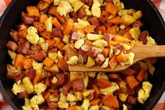 Ham, Apple & Sweet Potato Scramble - add a little extra pizzazz to a pan of plain old scrambled eggs.