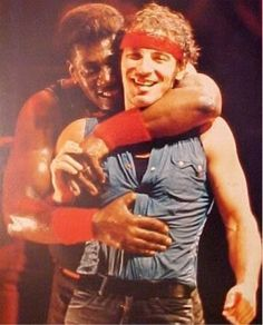 Bruce Springsteen and Clarence Clemons....