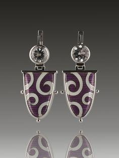 Cloisonne enamel Earrings. Made by Sergejs Blinovs #cloisonneenamels, #enameli, #sergejsblinovs, #jewelry, #handmadejewlery, #accessories, #enamels, #vitreousenamel