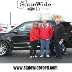Mr. & Mrs. Myers taking delivery of their new Ford Explorer from Randy Custer. Thank you for your business!