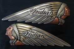 Custom Indian Motorcycle Gas Tank Emblem