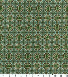 Keepsake Calico Fabric-Aqua Carpet Pattern: fabric: Shop | Joann.com