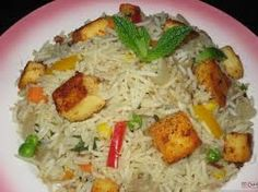 Paneer Tikka Pulao is a dish basically a combination of paneer tikka and Rice.
