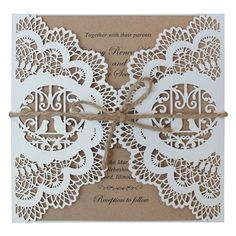 Vintage Wedding Invitation, Rustic Bridal Shower Invitation