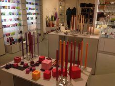 Kerzenausstellung bei Artemani Lübeck #amabiente #designcandles #squarecandles #cubecandles Switzerland, Candles, Colours, Shapes, Handmade, Home, Design, Hand Made, Ad Home
